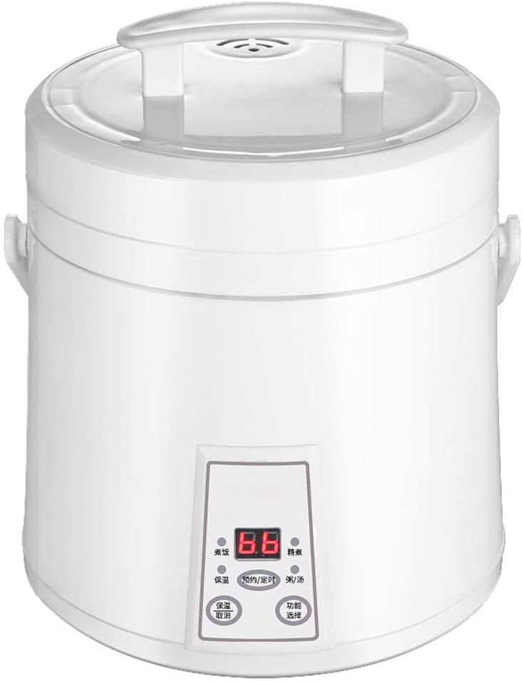 SL&DFB Smart Rice Cooker,Small Household 1-2-3 Person Mini Rice Cooker Electric Pressure Cooker Multi-Cooker Portable Slow Cooker-White