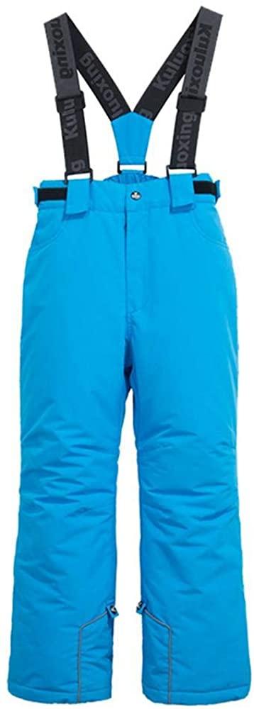 Girls and Boys Ski Pants Outdoor Waterproof Windproof Snow Ski Hiking Pants Snow Bib Overalls 4