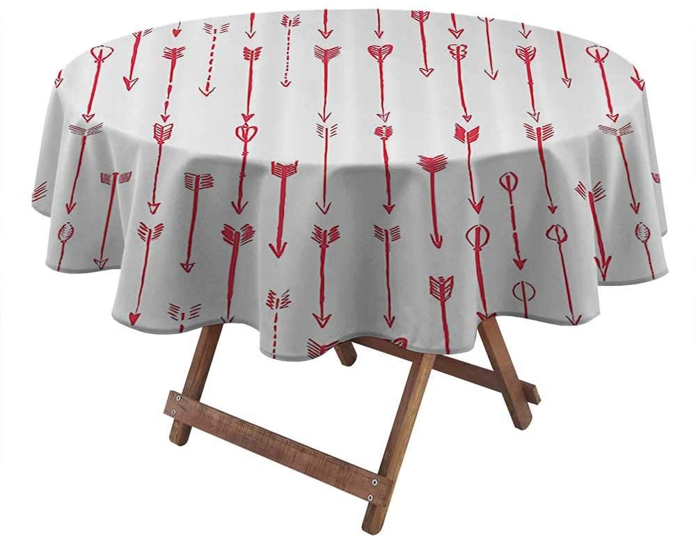 Table Cover Arrow Decor Collection for Picnic Party Patio Table Camping Sport of Archery Falling Arrows Pattern Art with Drawing Effect 50