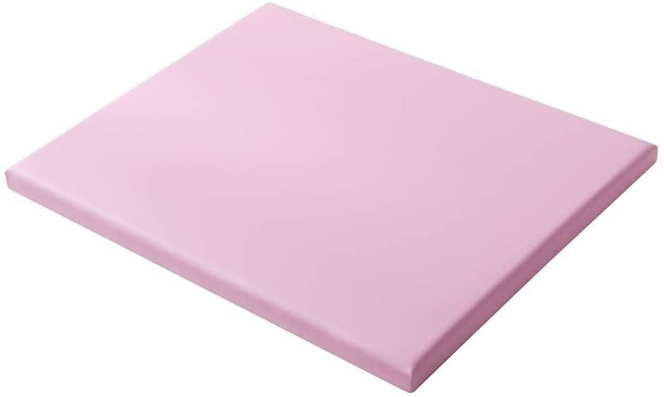 JN Baby Changing Table PU Changing Pad Cover for Infant Newborn, Pink Baby Diaper Station Wooden Support Plate Baby Crib