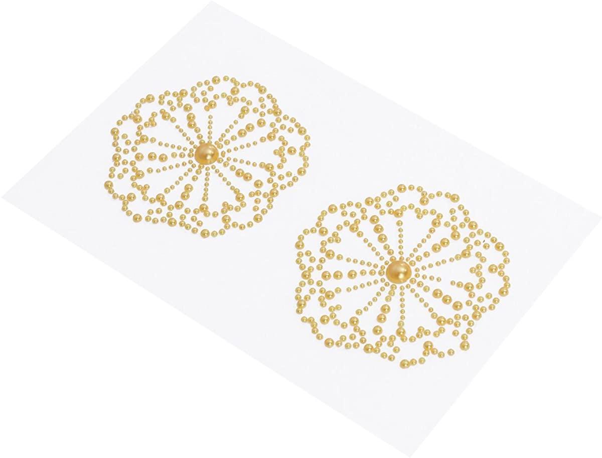 LUOEM Acrylic Nipple Covers Rhombus Shape Breast Face Jewels Acrylic Tears Gem Stones Bindi Chest Stickers (Golden), 16.5 X 1.25CM