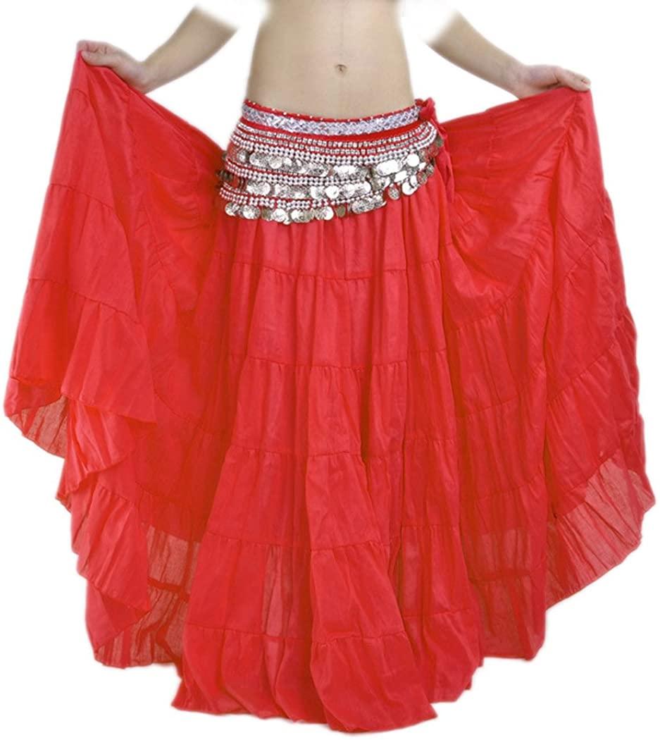 Astage Women Vintage Cuban Dance Skirts Belts Sets Carnival Costume