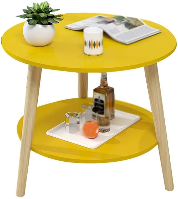 GWW Perfect Furniture Triangle Table, Balcony Bedroom Small Coffee Table with Storage Space Storage Rack Solid Wood Table Leg Support Diameter: 40-60CM (Color : A, Size : 6050CM)