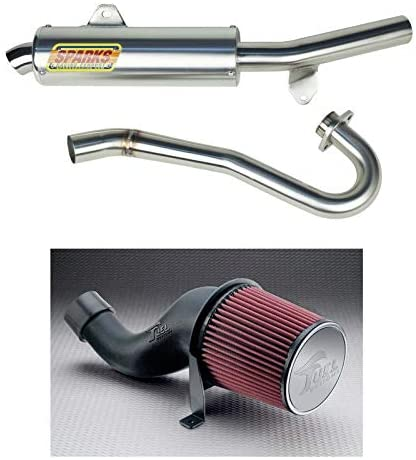 Sparks Racing X6 Race Core Exhaust Fuel Customs Intake compatible with Honda TRX450R 06-15