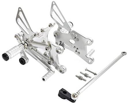 Frames & Fittings Racing Adjustable Rearsets Foot Rest Peg Rear Set for Yamaha YZF-R125 2008-2013 Black Gold Sliver - (Color: Sliver)