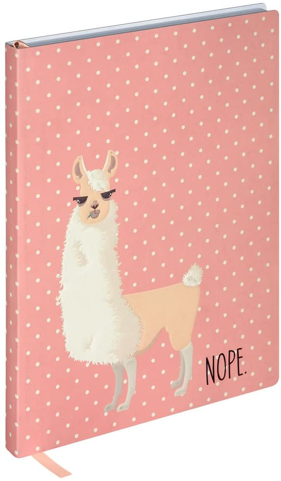 Pink Soft Cover Llama Themed Lined Journal Notebook 6