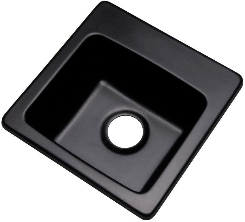 Thermocast 17099Q Westminster Composite Granite Prep Sink, 16-Inch, Black