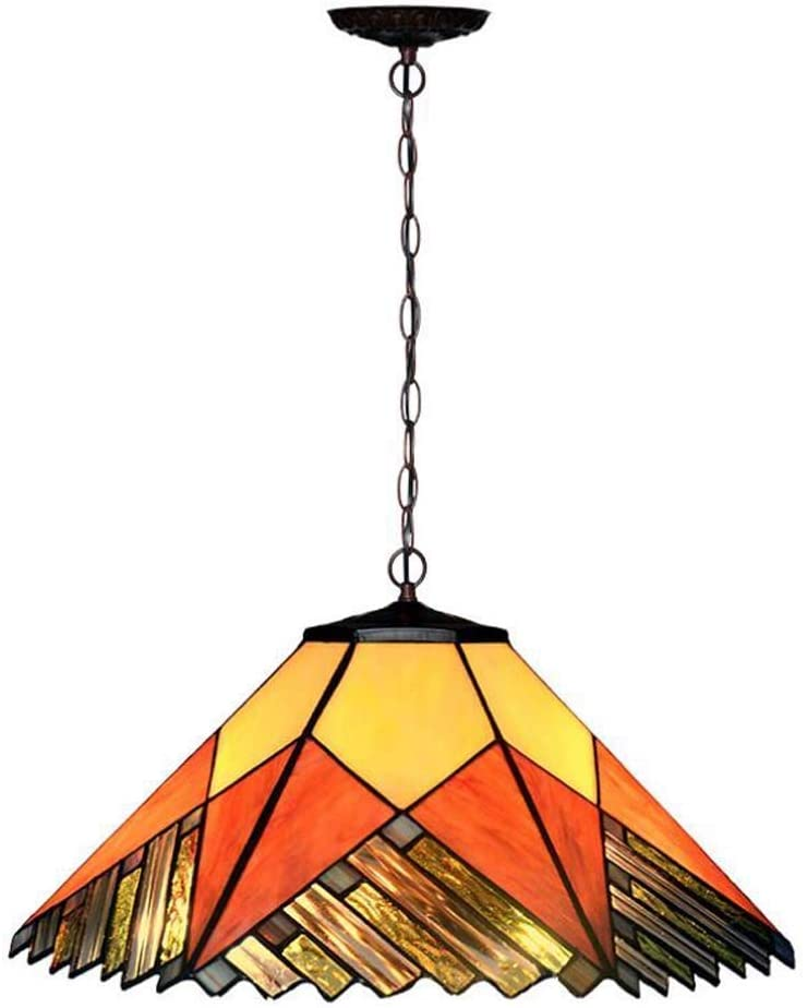 BOSSLV Pendent Lamp Parlor Dining Hall Bedchamber Study Chandelier Creative Mediterranean Countryside Hanging Lamp Glass Metal Decorative Indoor Lighting 40CmH22Cm 2E