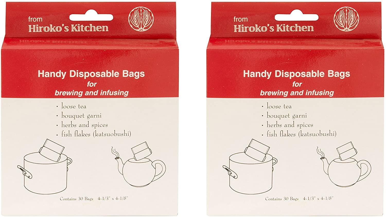 Hiroko's Kitchen Tea Filter Bags, Disposable Tea Infuser and Bouquet Garni Bags, Set of 60