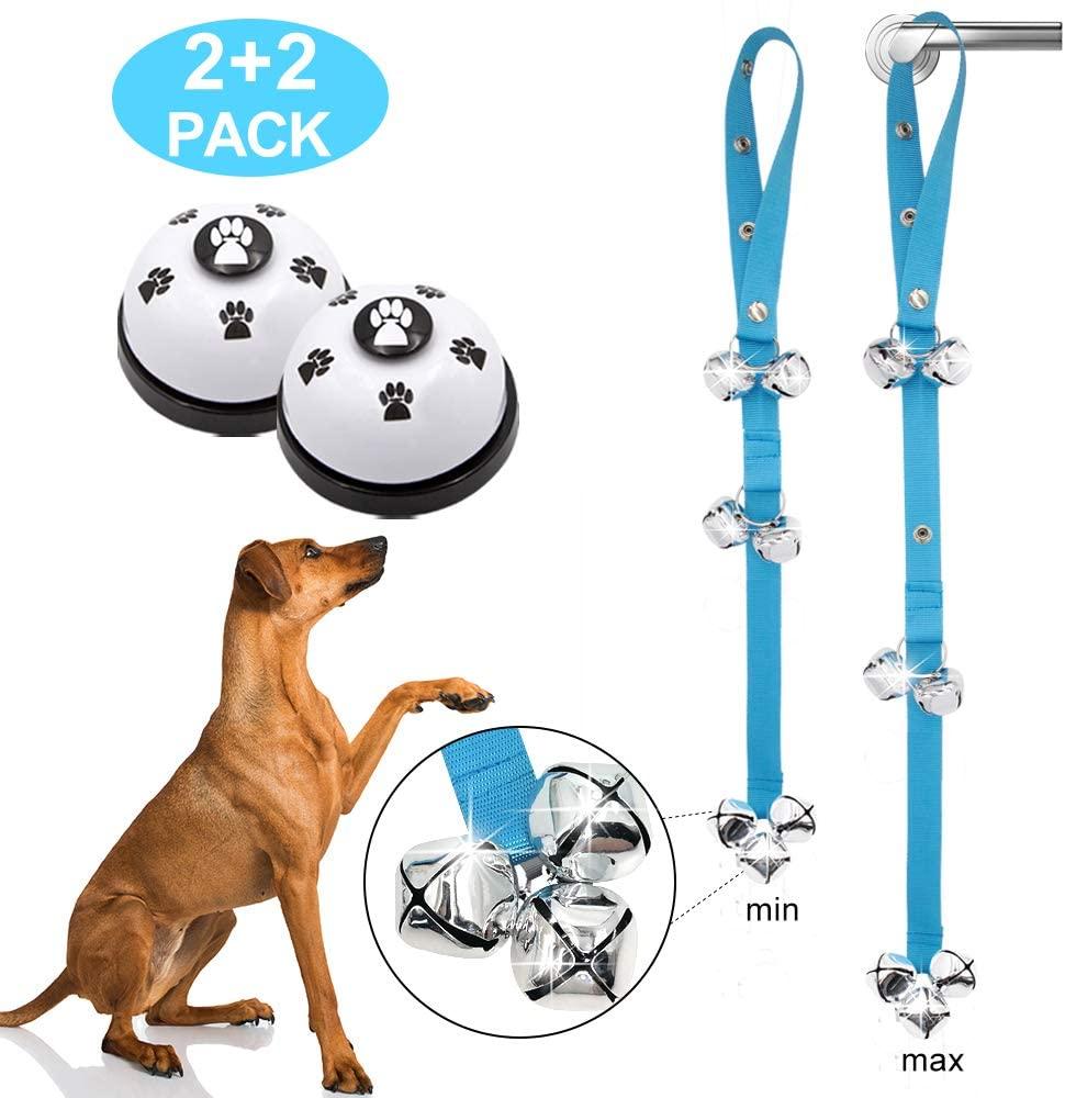 Supet Dog Doorbells and Training Bells 2 Pieces Premium Quality Adjustable Door Bell Dog Bells for Door Knob, Dog Training,Dog Bells for Potty Training