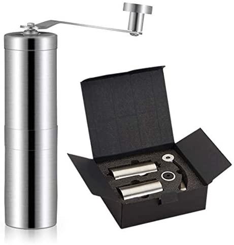 NINELON Portable Manual Coffee Grinder Stainless Steel Grinder Pepper Grinder Coffee Machine Gift Set