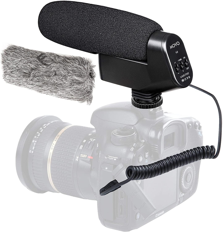 Movo On-Camera Shotgun Video Microphone Compatible with Nikon D850, D810, D800, D750, D610, D600, D500, D7500, D7200, D7100, D5600, D5500, D5300, D5200, D3500, D3400, D3300, D3200, D4, D5 DSLR Cameras