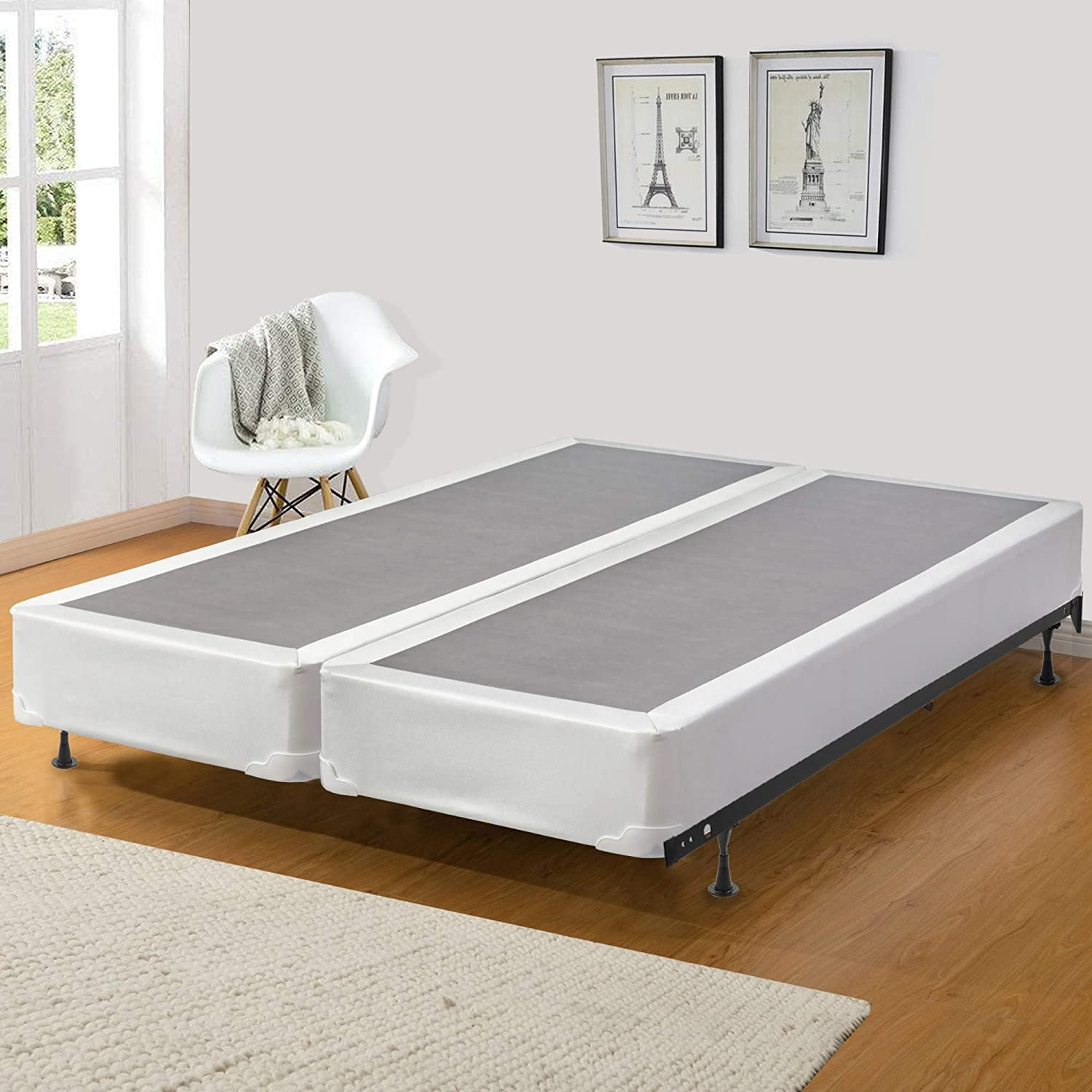 Mattress Solution 8 Assembled Split Box Spring/Foundation Set for Mattress, Extra Pedic Collection, 8 Fully, Twin Size