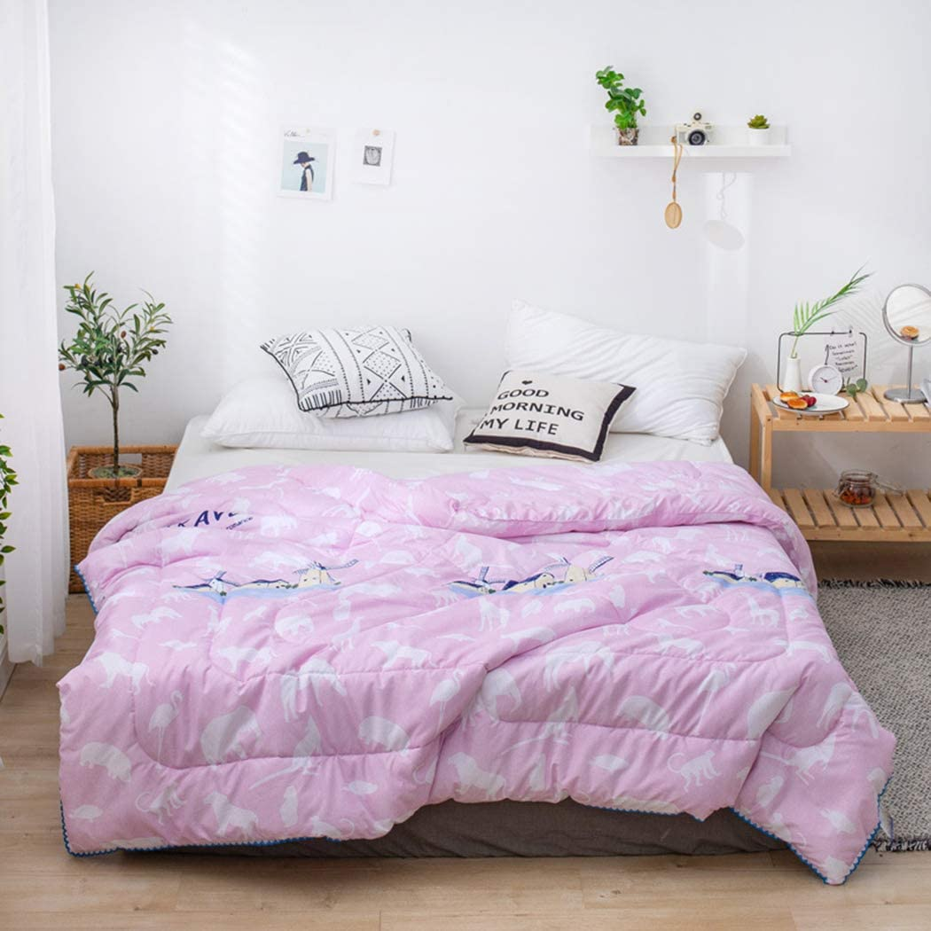 ZIHUAD Bedlinings Cotton and Soybean Summer Quilt Spring and Autumn were Quilt by Children-F-200230CM