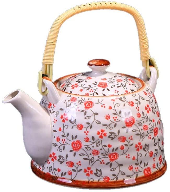 Carrying pot household large teapot teacup ceramic tea set set kettle jug blue and white teapot restaurant hotel teapot