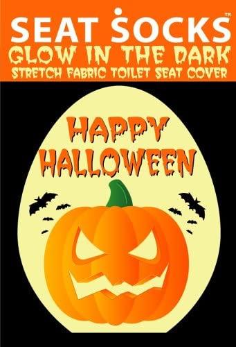 Halloween Seat Socks Toilet Lid Covers Glow in the Dark!
