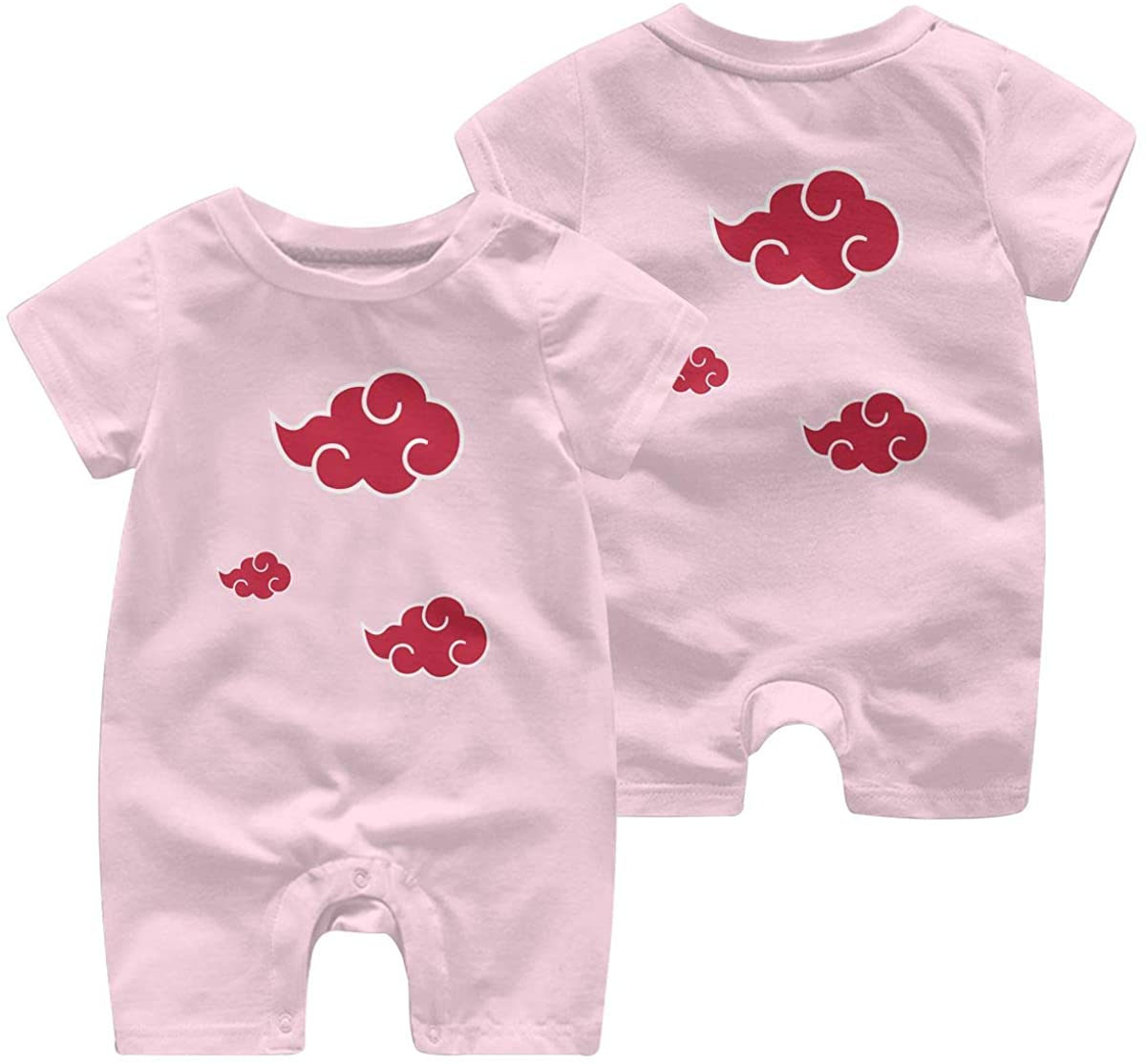 Naruto Red Clouds Comfortable Baby Short Sleeve Jumpsuit Kid Baby Pajama Sleeper Cotton Romper