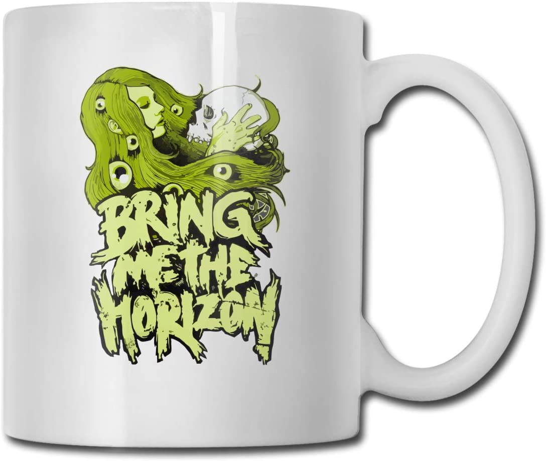 Bring Me The Horizon White Ceramic Coffee Cup with C-Shaped Handle