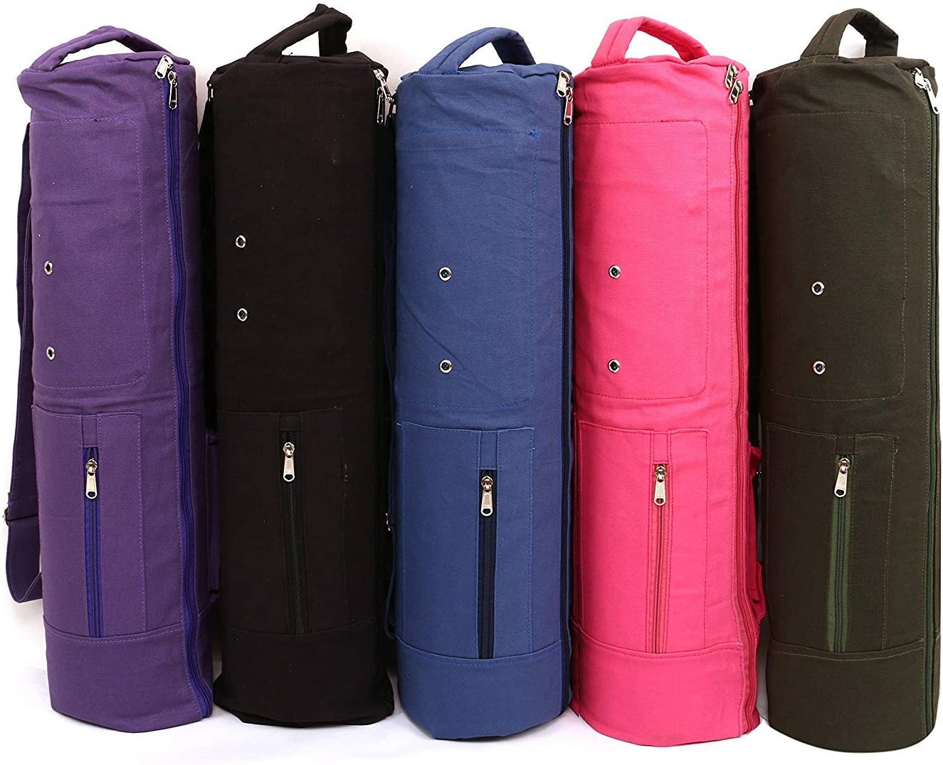 KD Yoga Bag MAT Cover Full Zip Carry Bag with Multiple Pockets Storage Area Grey