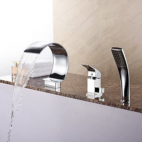 chromium Color square falls a three-piece take showers Roman bathtub Taps