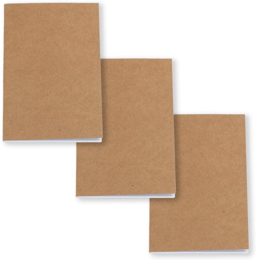 Unlined Brown Pocket Journals, 3.5 x 5.5 by Studio Nouveau (3-pack)