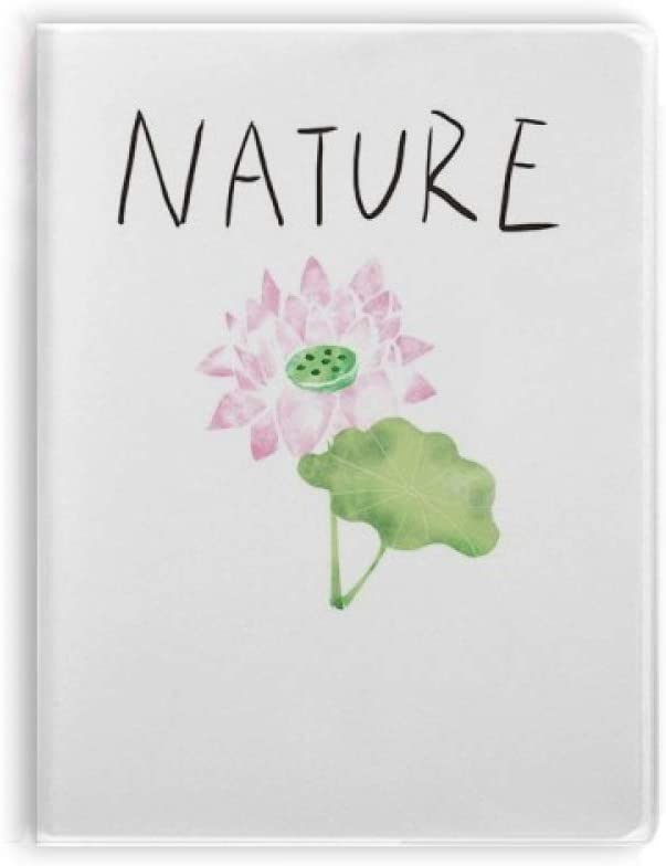 Lotus Plant Soloisland Painting Notebook Gum Cover Diary Soft Cover Journal