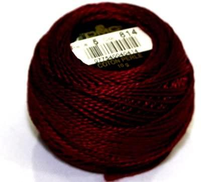 DMC Cotton Perle Thread Size 5 814 - per 10 Gram Ball