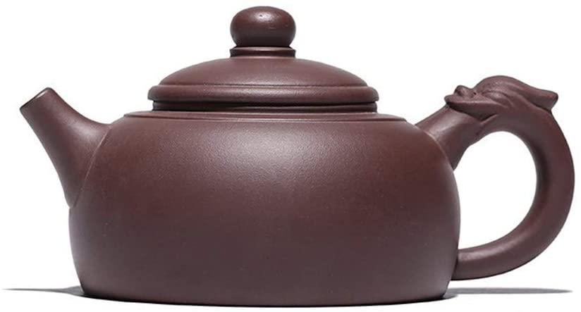 QinMei Zhou Soaring ore purple clay teapot pot handmade pot (Color : Red)