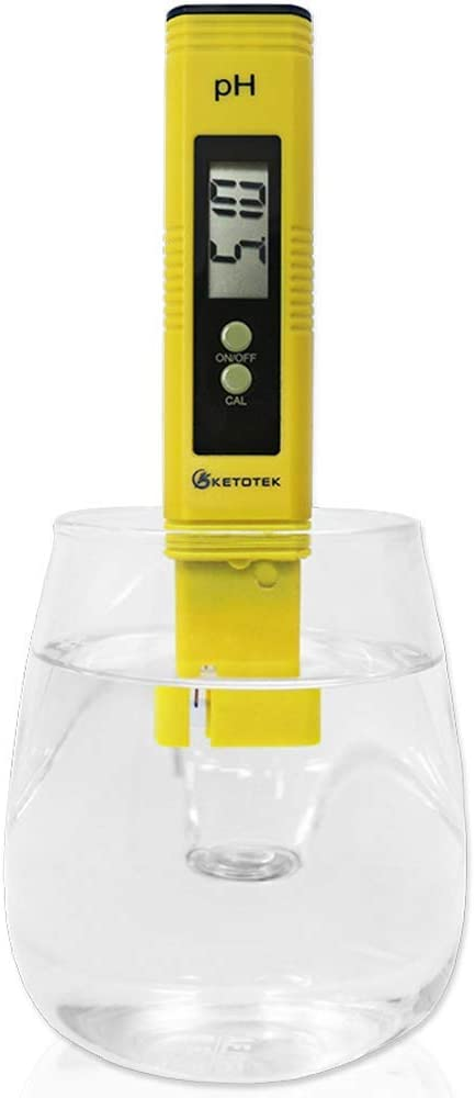 Digital PH Meter, PH Meter ATC, Water PH Test Meter 0.00-14.00PH Measure Range Drinking Water, Hydroponics, Aquariums, Swimming Pools. High Accuracy 0.01 PH Pen Tester