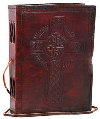 Simplicity Zone Celtic Cross Leather Blank Book with Cord