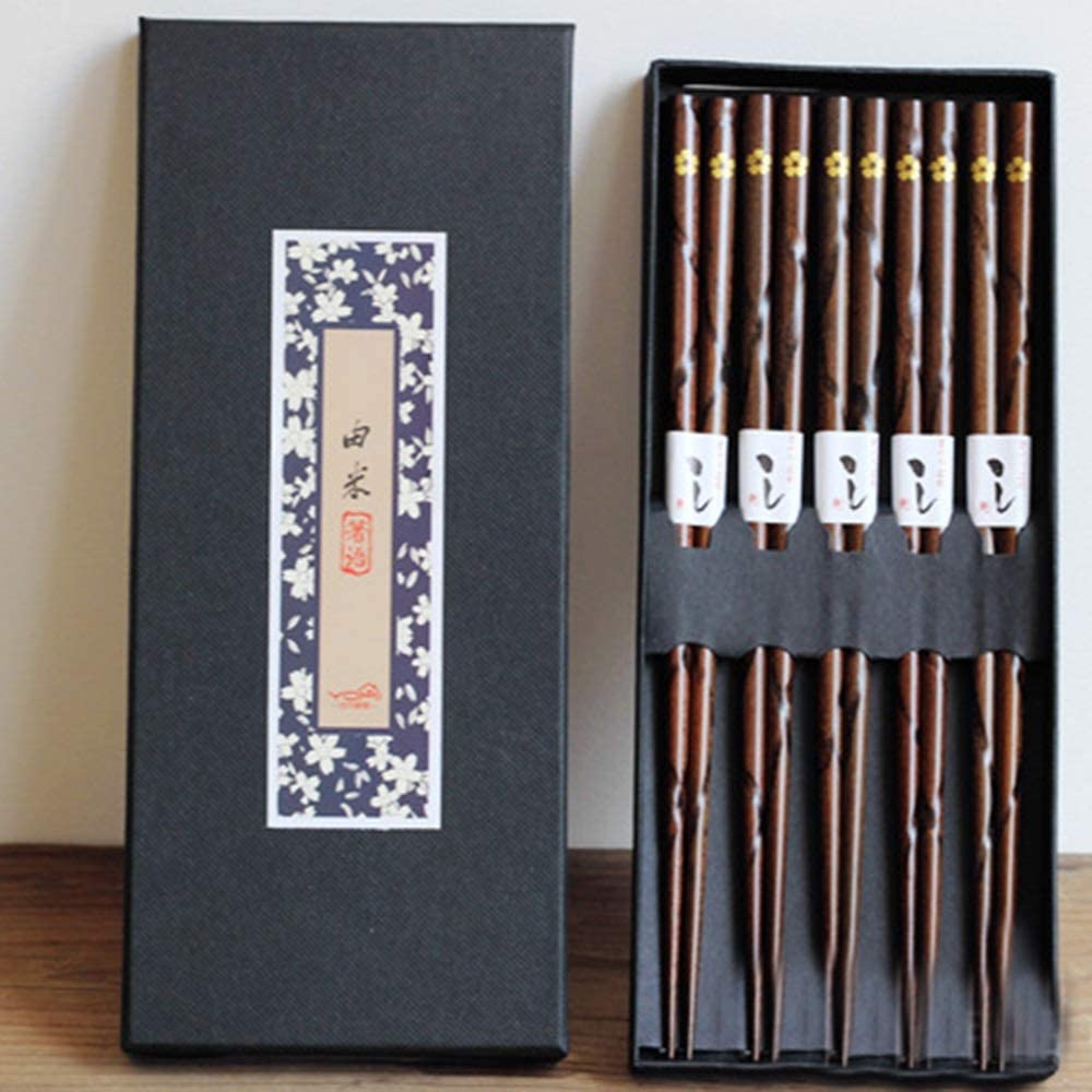 Chopsticks - Chinese-Style Wooden High-end Suits, Luxury Gift Chinese Mahogany, Bamboo Shape, Wear-Resistant, Not Hot Collections