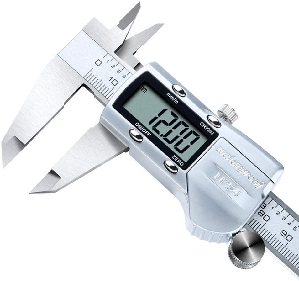 Calipers Digital 0-150-200-300Mm Industrial Grade Stainless Steel Body Inch To Millimeter Conversion Vernier Caliper - with LCD Display,200mm
