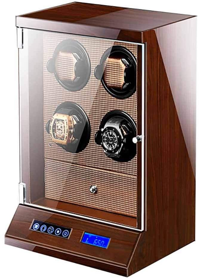 Newly Designed Watch Winder, 4 + 4 Position Watch with Drawer, Extremely Quiet and Anti-electromagnetic Motor, with Soft and Flexible Pillow, Size 27.5 22.5 39 (cm) Watch Winder (Color : B)