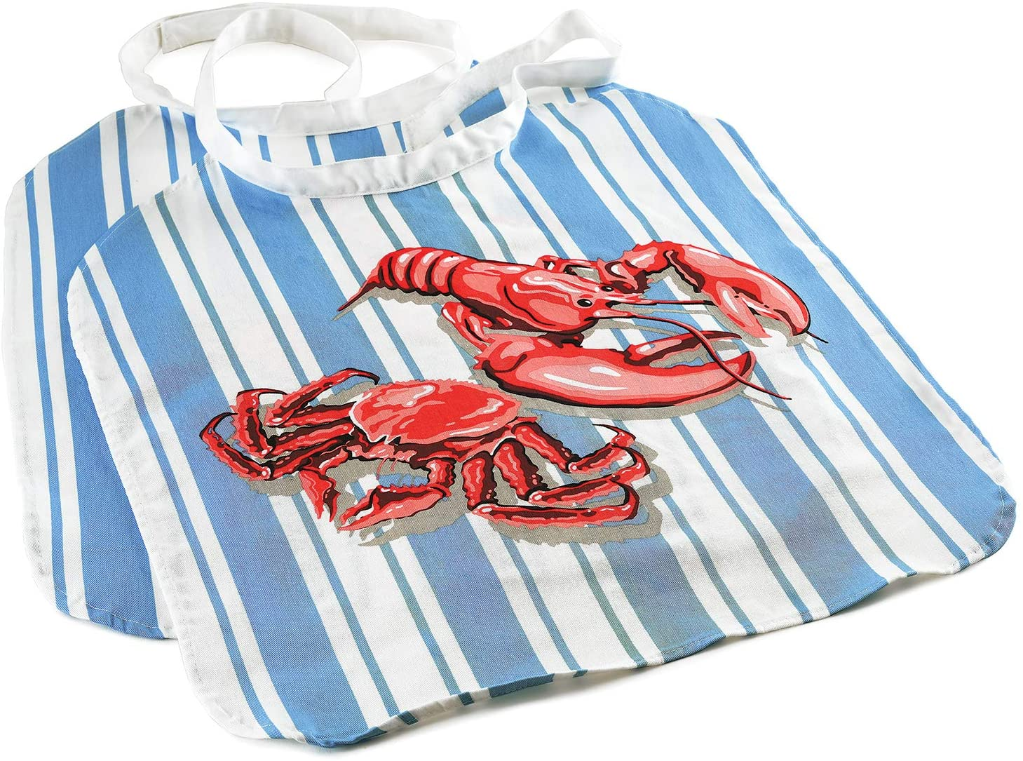 Norpro Seafood Bib, One-Size, Blue/Red
