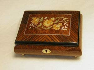 Made in Italy Sorrento High Gloss Jewelry Music Box - Somewhere Out There (Sankyo 18 Note)