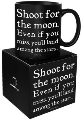 Quotable Cards, Mug Shoot For Moon