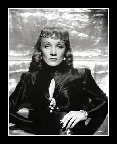 8 x 10 All Wood Framed Photo Marlene Dietrich Stunning