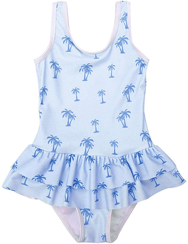 Happy Cherry Kids Girls One Piece Swimwear Cute Ruffled Printed Bathing Suit …