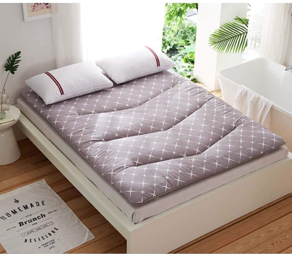 CTYfuton Breathable Tatami Sleeping Floor Mat,Thicken Floor Futon Mattress Mat,Soft Japanese Futon Bed Roll,Foldable Mattress Pad for Student Dormitory-e Twin