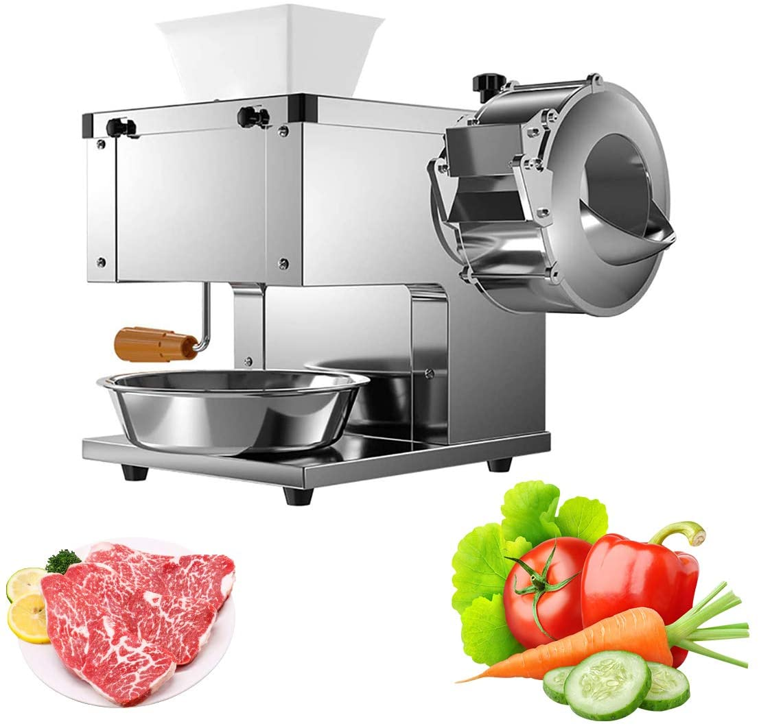 Electric Meat and Vegetable Grinder Commercial Meat Grinding Machine Cutter Shredder Stainless Steel Food Copper Slicer for Kitchen Restaurant