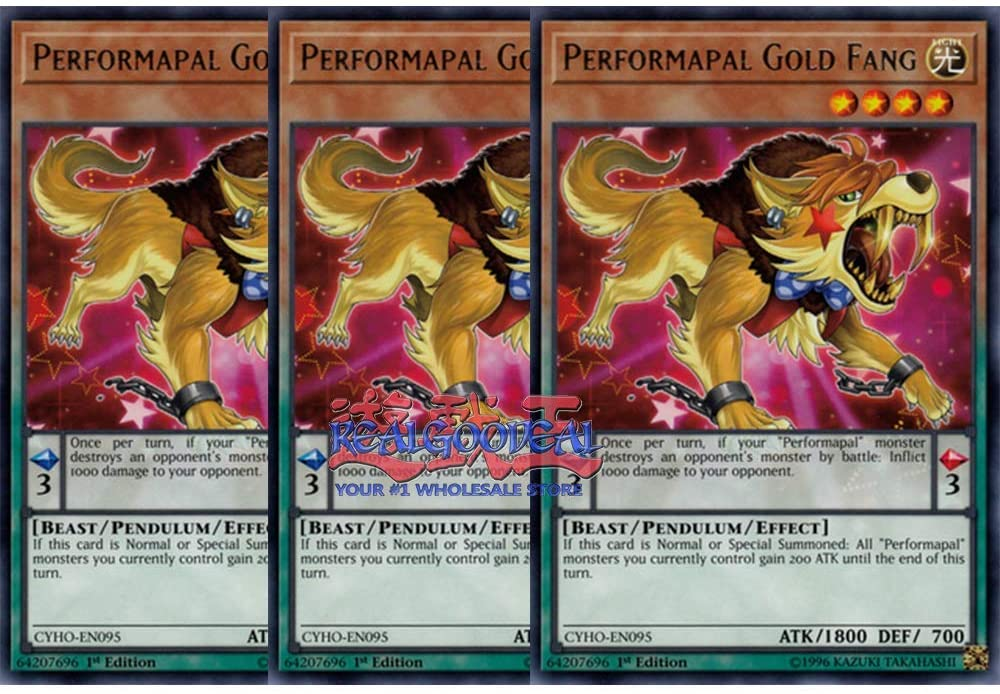 x3 Performapal Gold Fang MP19-EN147 Common ul