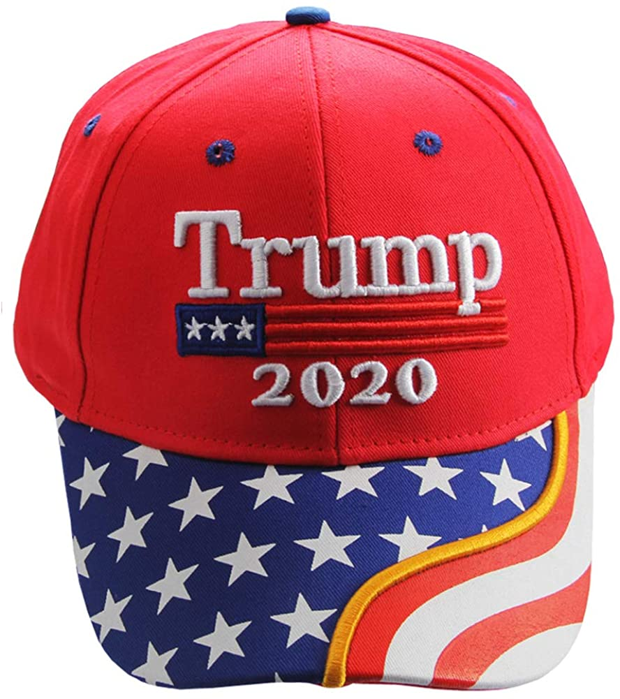 Filimino Trump Hat 2020-Keep America Great Hats Adjustable Baseball Cap and Trump Tattoo Temporary Tattoos Face Sticker