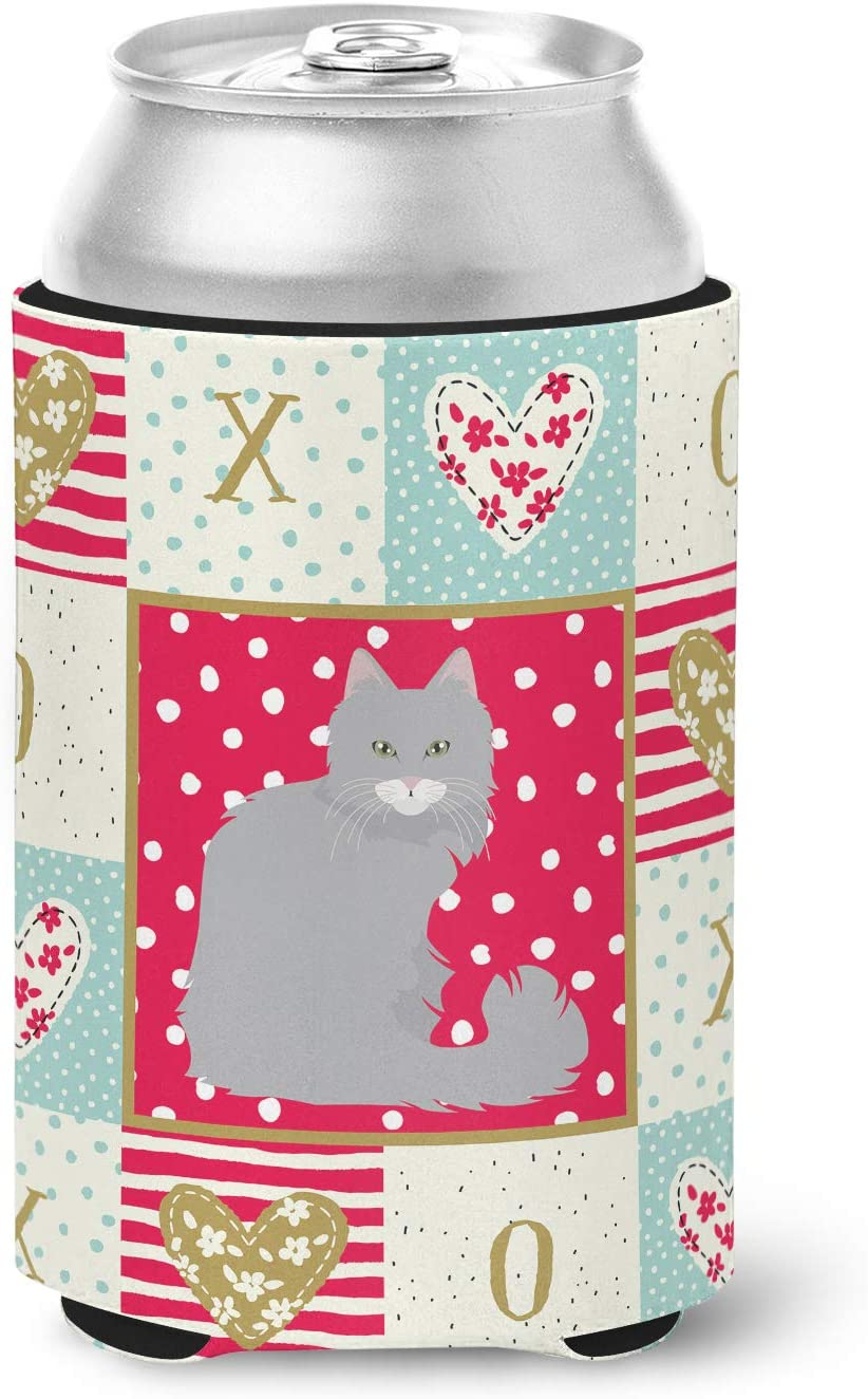 Caroline's Treasures CK5772CC Norwegian Forest Cat Love Can or Bottle Hugger cold-beverage-koozies, Multicolor