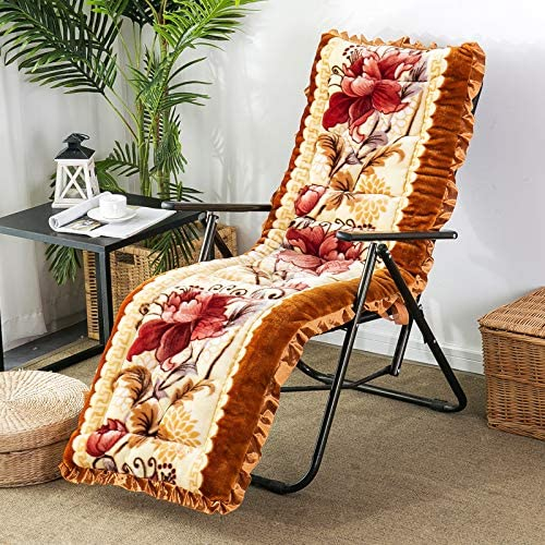 TCpick Soft Leisure Rocking Chair Cushion,Folding Patio Recliner Cushion Multifunction High Back Chair Cushion for Lounge Chair Outdoor Garden Patio Classic A 53x163cm(21x64inch)