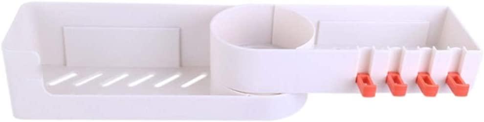 Smartcoco 90° Seamless Rotating Tripod Bathroom Shelf Corner Bath Rotatable Seamlessly Storage Holder