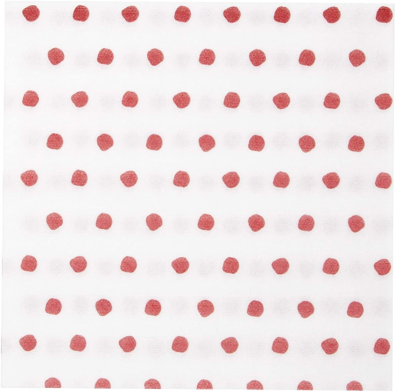 Vietri Papersoft Napkins Red Dot Dinner Napkins (Pack of 50) - Decorative and Eco-Friendly Party Supplies