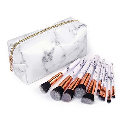 Professional Makeup Brushes Cosmetic Bag Set Make up Artist Brushes Multi Functional Cosmetic Bag Makeup Handbag for Travel & Home Gift (A)