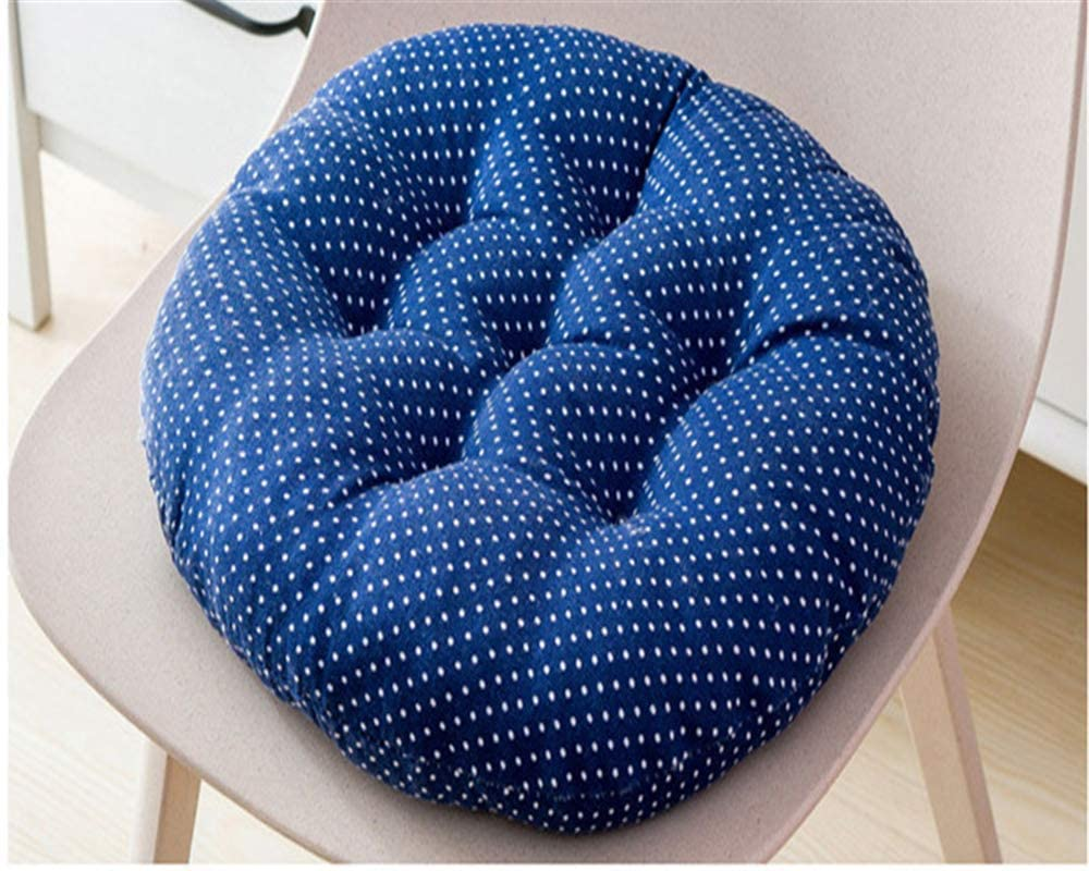 HEWEI 2-Pack Garden Chair Cushions seat Cushions Back Cushions Couch Cushions Low Back Cushions and Ties Chair Cushions for Office Chair and at Home (Dark Blue 45 45)