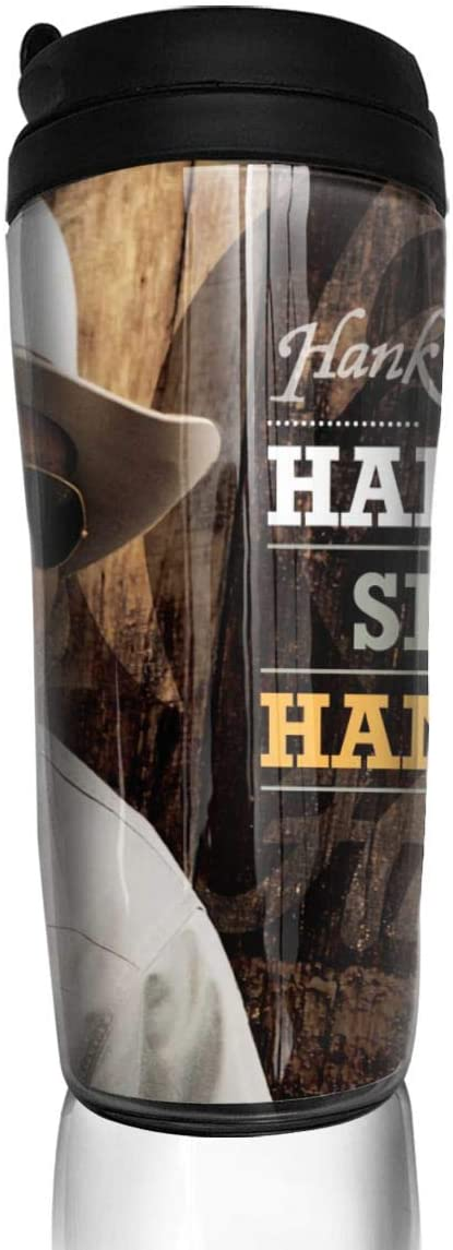 KAKFNHOP Coffee Cup Hank Williams Jr Vacuum Cup, Double Wall Coffee Cup, Insulated Coffee Mug, Stainless Steel Travel Cup, Coffee Cups with lids 12 oz