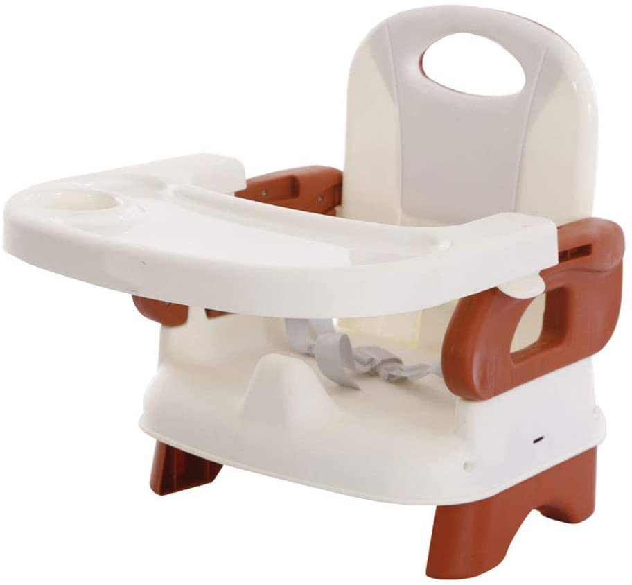 MASODHDFX Baby Chair Seat Portable Kids Booster High Chair with Table Foldable Children Feeding Chair Adjustable Dinning Table Harness,A